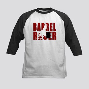 BARREL RACER [maroon] Kids Baseball Jersey